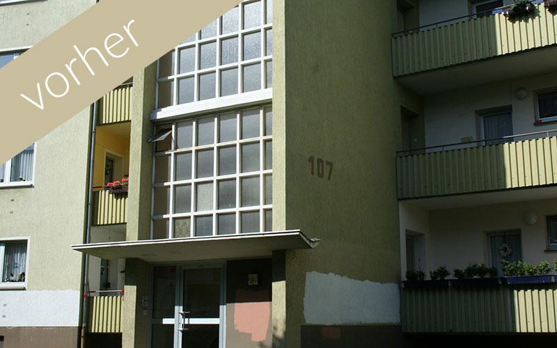 Lavida Wohnen 3: Ansicht aus dem Jahr 2012 vor der Sanierung
